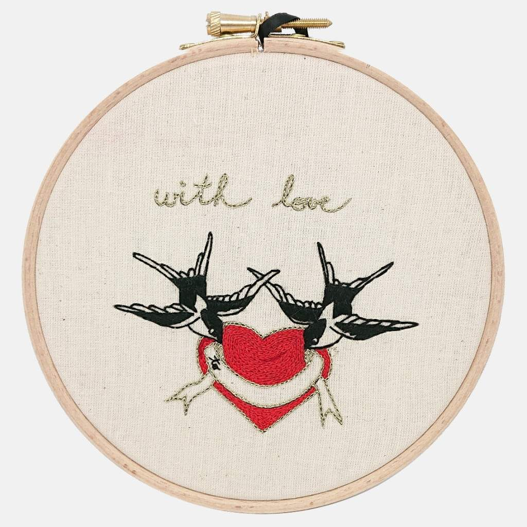 Love Swallows,  Embroidery Pattern & Tutorial (PDF file) - VintageMadbyM