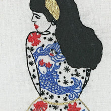 Load image into Gallery viewer, La fille d'été - Kit de broderie - VintageMadbyM