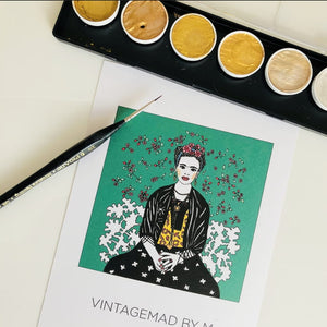 Frida Kahlo, GIFT BOX Embroidery Kit & Frida Goodies - VintageMadbyM