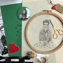 Load image into Gallery viewer, Frida Kahlo, GIFT BOX Embroidery Kit & Frida Goodies - VintageMadbyM