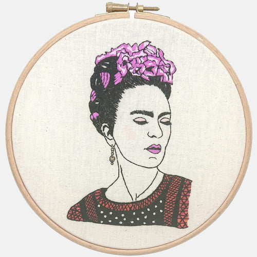 Frida Kahlo - you are magic, GIFT BOX Embroidery Kit & Frida Goodies