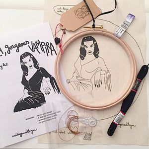 Maila, Beautiful Vampira, Embroidery Kit - VintageMadbyM