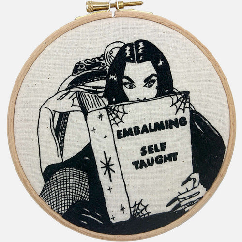 Vampira Embalming Self-Taught Embroidery