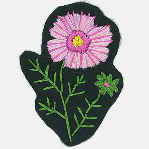 Cosmos Patch, Embroidery Kit - VintageMadbyM