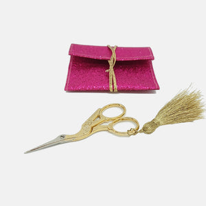 Embroidery Scissors, Gold Stork. High Quality, stainless steel - VintageMadbyM