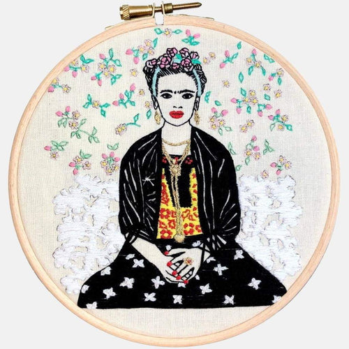 Frida Kahlo Embroidery Pattern & Tutorial  PDF - VintageMadbyM