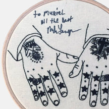 Load image into Gallery viewer, To the Stars My Love, Mark Lanegan's Tattooed Hands, Embroidery Kit - VintageMadbyM