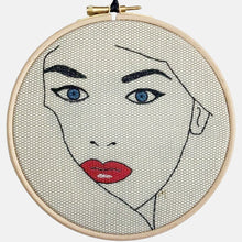 Load image into Gallery viewer, Modern Embroidery, Wall Art, Hoop Art, Femme Fatale - VintageMadbyM
