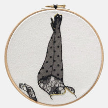 Load image into Gallery viewer, Modern Embroidery, Wall Art, Hoop Art, Luscious Valérie - VintageMadbyM
