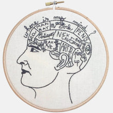 Load image into Gallery viewer, The Phrenology Head, Embroidery Kit - VintageMadbyM