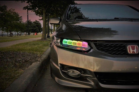 "2006 - 2011 Honda Civic ""Jewel Eye"" Retrofitted Headlights (8th Gen.)"