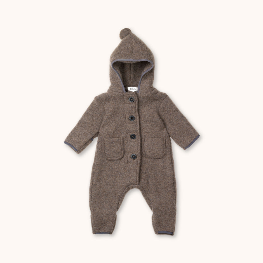 Teddy merino onesie chocolate