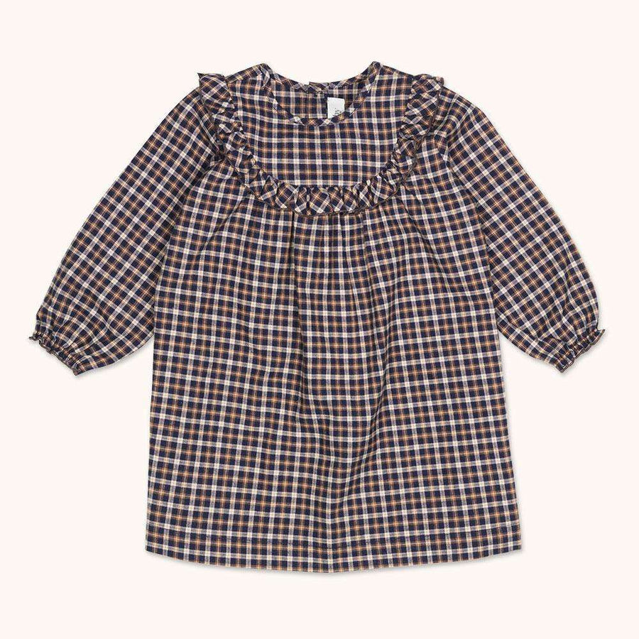 Noey dress checked flannel