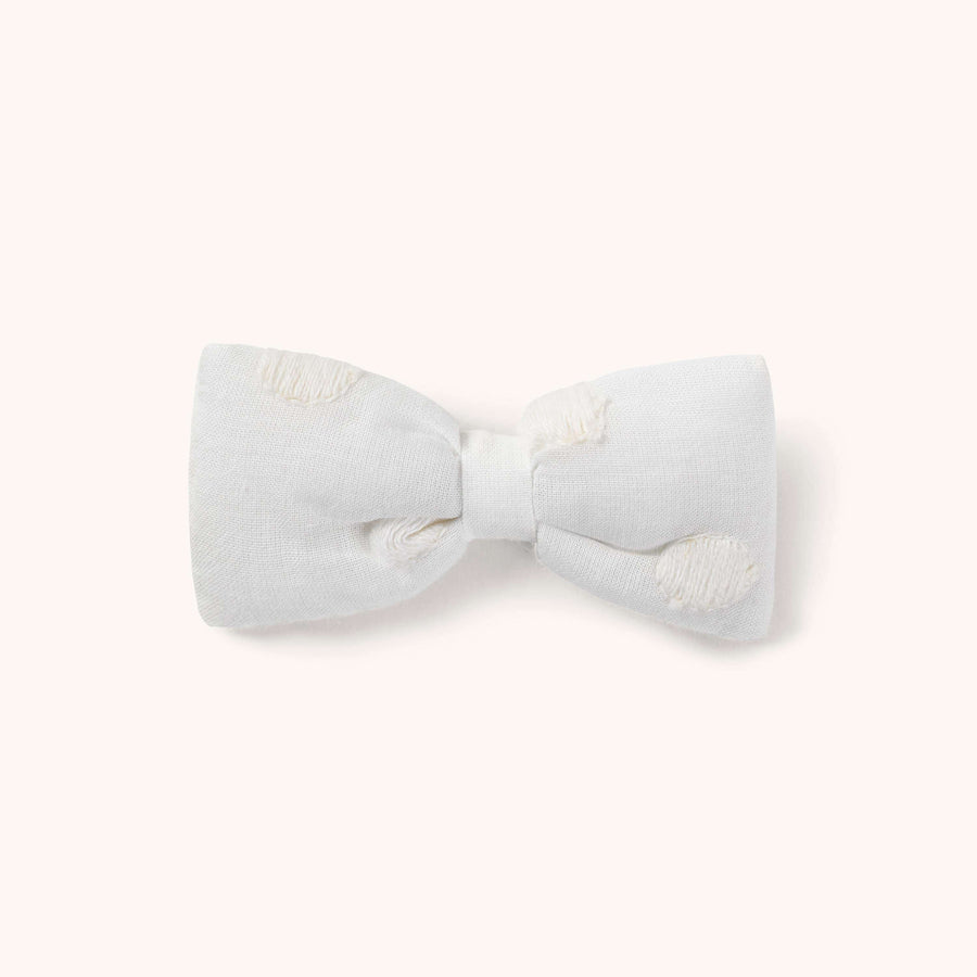 Hair bow white dots