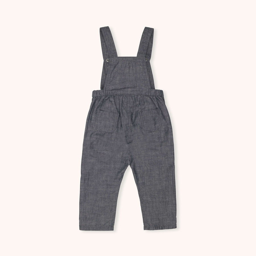 Ossie dungarees blue grey