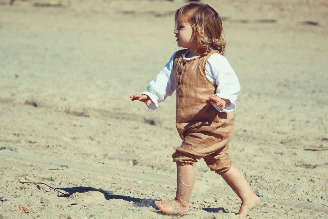 Toddler Linen Romper - Alskar Designs