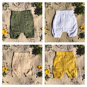 Toddler Linen Shorts - Alskar Designs