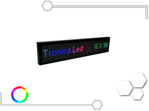 Tablero Led Full Color RGB 16 X 96 cm - Tronics Led