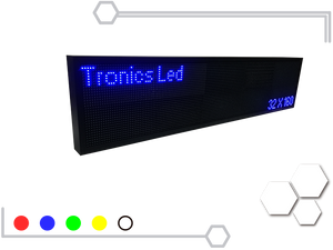Tablero Led de un color 32 X 160 cm - Tronics Led