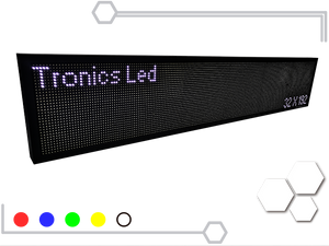 Tablero Led de un color 32 X 192 cm - Tronics Led