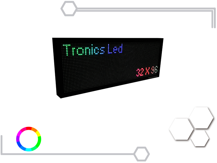 Tablero Led Full Color RGB 32 X 96 cm - Tronics Led