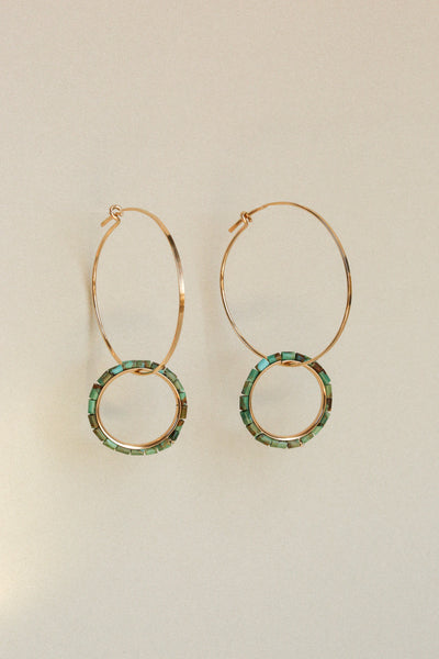 Turquoise Ouroboros Earrings