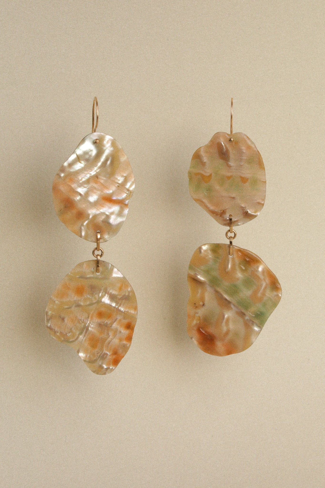 Abalone Fan Earrings