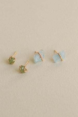 Aquamarine Orbit Studs