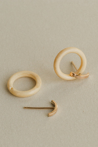 Bone Link Earrings