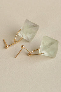 14k Fluorite Prism Earrings