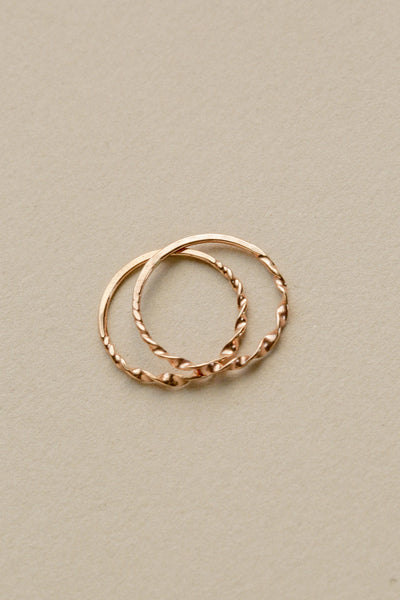 Twisted Stacking Ring • 14k