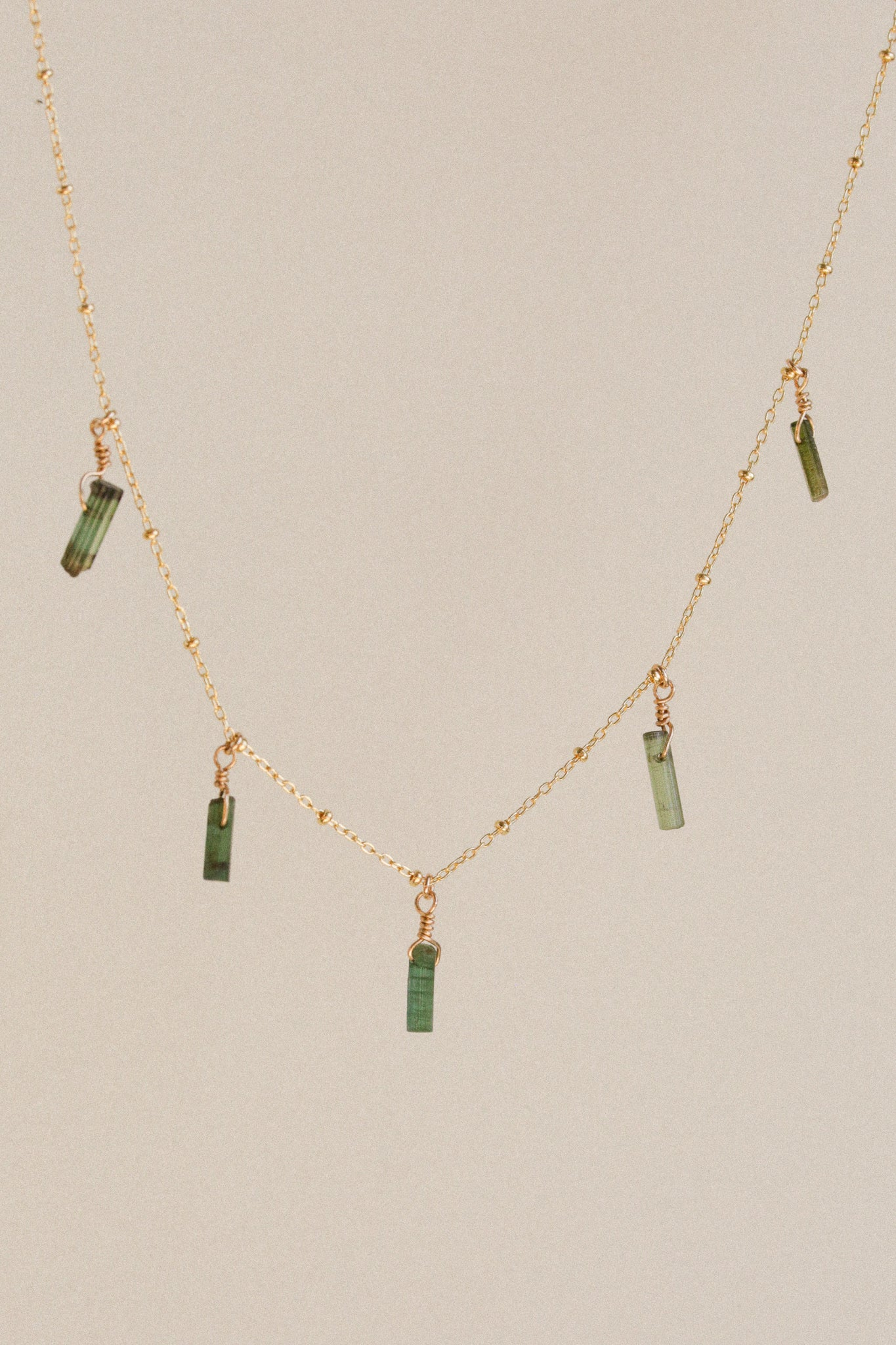 Tourmaline Tag Necklace
