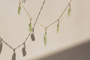 Kyanite Tag Necklace