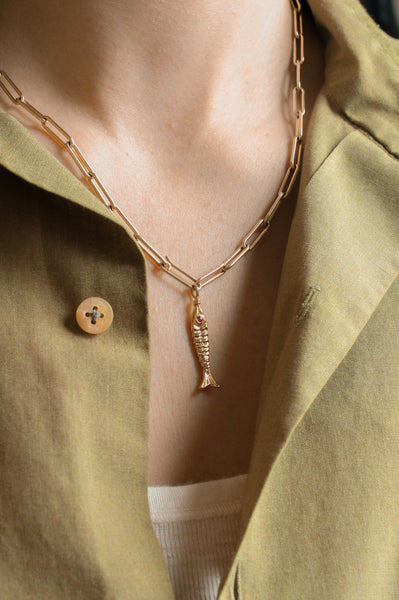 Heavy Paperclip Chain Necklace