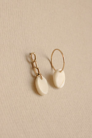 14k Antler Earrings