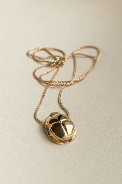 Sun Scarab Necklace