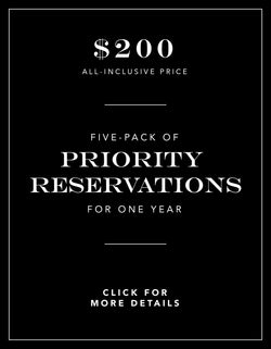 Five Pack of Priority Reservations for 1 Year Experience