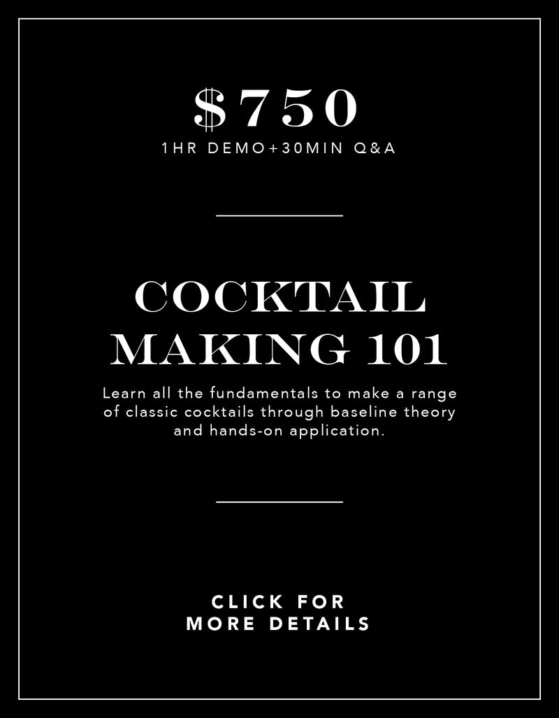 Cocktail Making 101 Experience