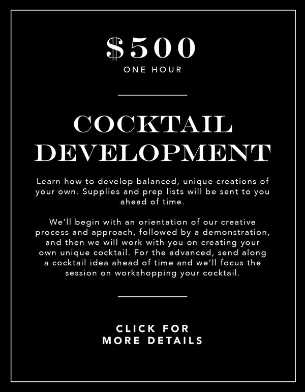 Cocktail Development (Package 1) Experience