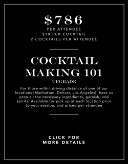 Cocktail Making 101 Upgrade Experience