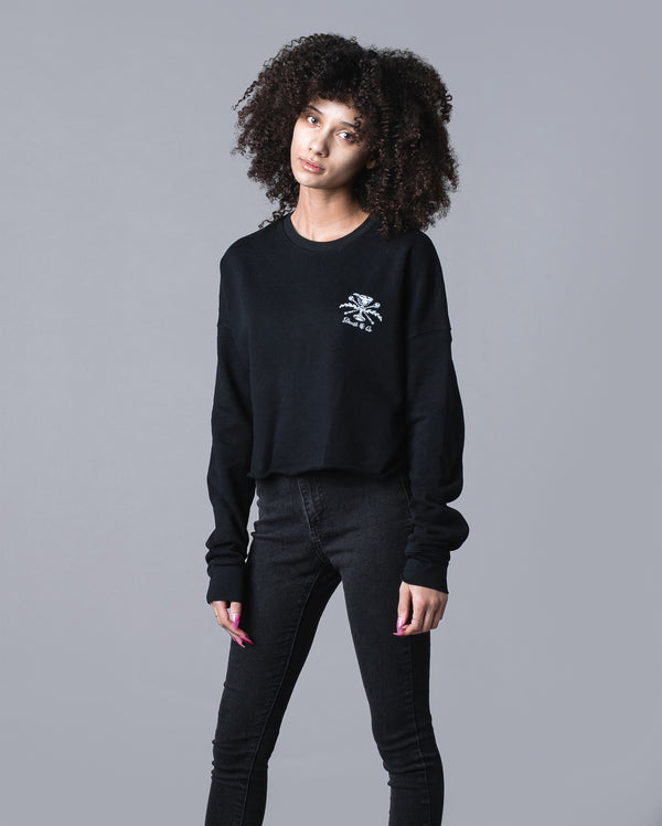 Family Crest Women's Cropped Crewneck