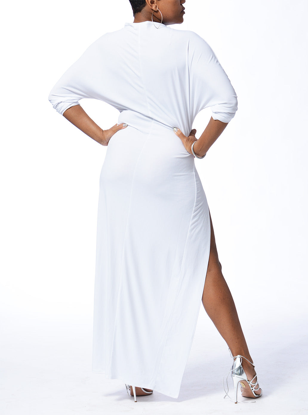 MILAN - Long Slit Dress - White