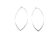 Load image into Gallery viewer, Large OVAL White Gold Hoops