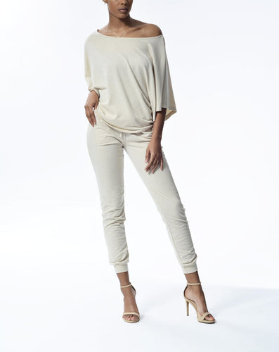 ELENA - Open Arm Top - Taupe
