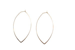 Large OVAL Gold Hoops