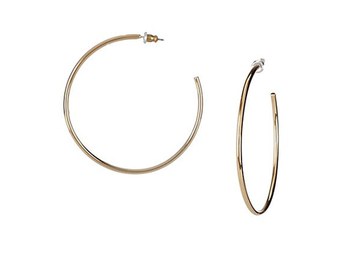 Gold Round Hoop Earrings