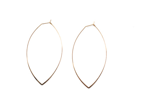 Small OVAL Gold Hoops