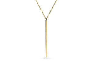 Long Gold Vertical Bar Necklace