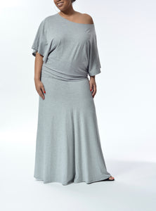 ELENA - Open Arm Top - Grey