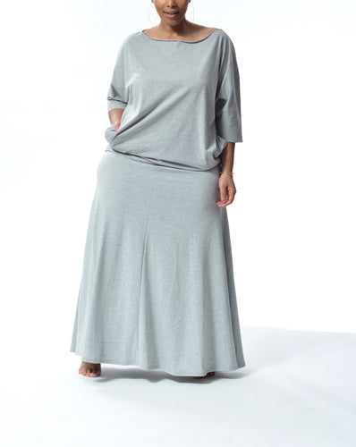 JACKIE - Long Flowy Skirt/Dress - Grey